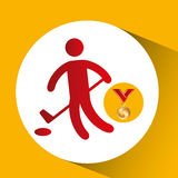 Symbol för golf för olympiskt guldmedalj Royaltyfri Fotografi