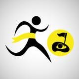 Symbol för golf för vinnarekontursport stock illustrationer