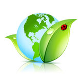 Symbol för grön jord Arkivfoto