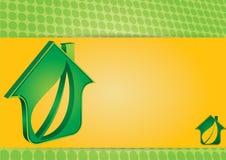 symbol för grönt hus Arkivbilder