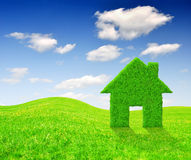 Symbol för grönt hus Arkivbild