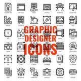 Symbol för grafisk formgivare royaltyfri illustrationer