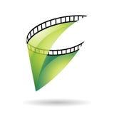 Symbol för GreenTransparent filmrulle royaltyfri illustrationer