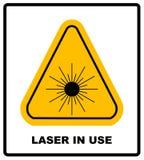 Symbol för grupp I för faralaser-utstrålning i den gula triangeln som isoleras på vit med text vektor illustrationer
