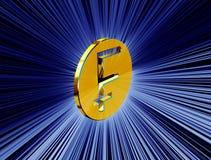 Symbol för guld- franc vektor illustrationer