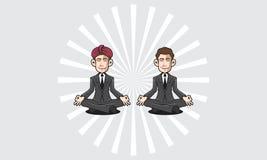 Symbol för Guru Businessman logovektor stock illustrationer