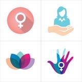 Symbol för hälsovård för kvinna` s Royaltyfri Bild