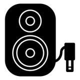 Symbol för högtalare för musikkolonn ljudsignal Stereo- kolonn för bio för solitt system för musik Arkivfoton