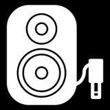 Symbol för högtalare för musikkolonn ljudsignal Stereo- kolonn för bio för solitt system för musik stock illustrationer