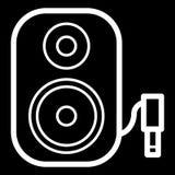Symbol för högtalare för musikkolonn ljudsignal Stereo- kolonn för bio för solitt system för musik Arkivbild