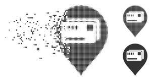 Symbol för halvton för PIXEL för biljettöversikt markör skingrad vektor illustrationer