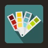 Symbol för handbok för färgpalett, lägenhetstil royaltyfri illustrationer