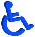 symbol för handikapp 3d Arkivbild