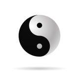 Symbol för harmoni för Yin yang 3d symbolsvektor Arkivfoton