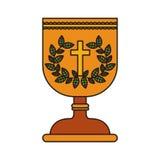 Symbol för helig gral royaltyfri illustrationer
