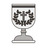 Symbol för helig gral vektor illustrationer