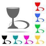 Symbol för helig gral Beståndsdelar av mång- kulöra symboler för religion Högvärdig kvalitets- symbol för grafisk design Enkel sy vektor illustrationer