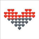 Symbol för hjärtavektorförälskelse Förälskelsevåg stock illustrationer