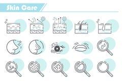 Symbol för hudomsorg stock illustrationer
