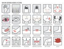 Symbol för hudsjukdomar stock illustrationer