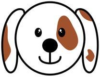 Symbol för hundhuvud vektor illustrationer