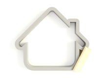 symbol för hus 02 3d stock illustrationer