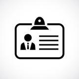 Symbol för ID-kortvektor stock illustrationer
