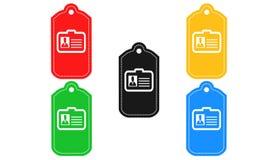 Symbol för identitetskort, tecken, illustration 3D Arkivfoto