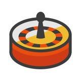 Symbol för illustration för rouletthjul Royaltyfria Bilder