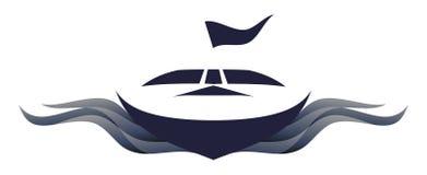 symbol för illustrationlogospeedboat vektor illustrationer