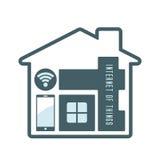 Symbol för Iot husteknologi royaltyfri illustrationer