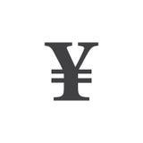 Symbol för japansk yen tecken fast logoillustration, picto stock illustrationer