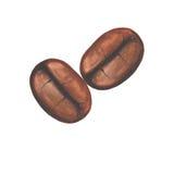 Symbol för kaffebönor Royaltyfri Bild