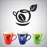 Symbol för kaffekopp Arkivbilder