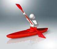 Symbol för kanotslalom 3D, olympiska sportar Royaltyfria Bilder