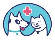 Symbol för klinikhusdjurblått Royaltyfri Fotografi