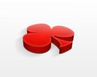 symbol för klubba 3d Arkivfoton