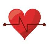 symbol för kondition för hjärtatakt Royaltyfri Fotografi