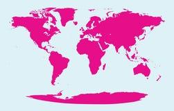 Symbol för symbol för konst för vektor för full global världsjordöversikt grafiskt isolerat royaltyfri illustrationer