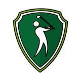 Symbol för kontur för golfspelare Arkivbilder