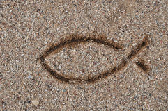 symbol för kristendomenfisktecken Royaltyfri Fotografi