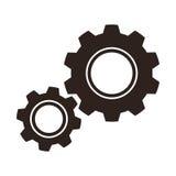 Symbol för kugghjul (kuggar) Arkivfoton