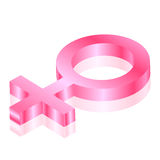 Symbol för kvinnlig 3d Arkivfoton