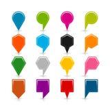 Symbol för läge för översiktsstifttecken med skugga Arkivfoton