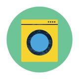 Symbol för lägenhet för tvagningmaskin Vektor Illustrationer