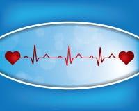 Symbol för lägenhet för hjärtslag-/hjärtataktpuls för medicinska apps Royaltyfri Foto