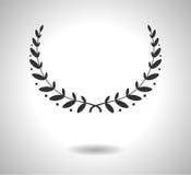 Symbol för lagerkransvektor Tecken av härlighet som isoleras på vit EPS Arkivfoto