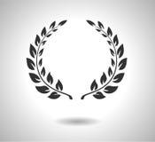 Symbol för lagerkransvektor Tecken av härlighet som isoleras på vit EPS Arkivbild