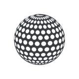 symbol för lek för sport för konturbollgolf Arkivbild