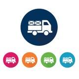 Symbol för leveranslastbil Logistiksymbol vektor för set för tecknad filmhjärtor polar Arkivbild